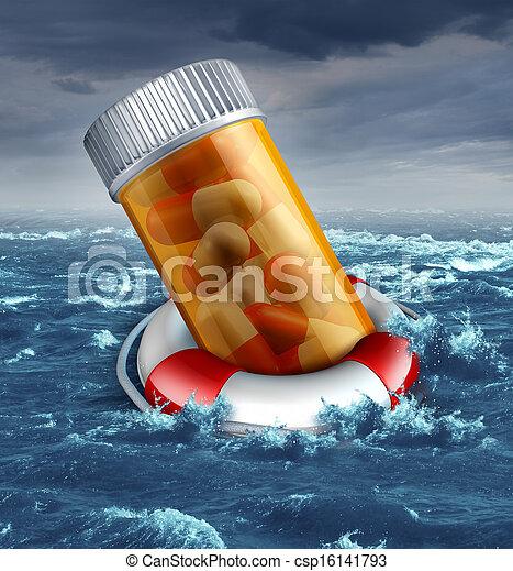 心配, 健康保険, 危険 - csp16141793