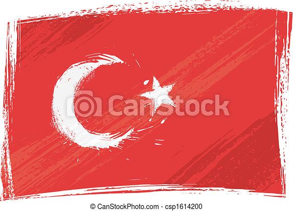 Grunge Turkey flag - csp1614200