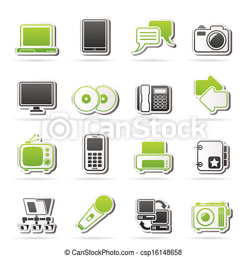 Communication and connection icons - csp16148658