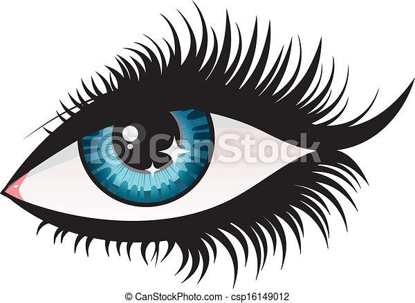Woman eye - csp16149012