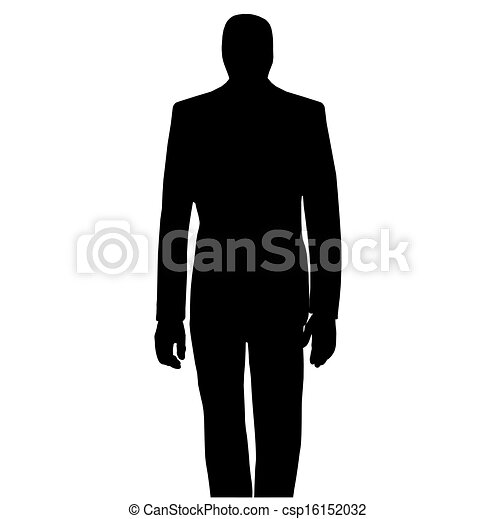 a man posing in front - csp16152032