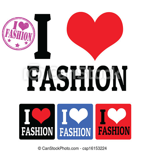 I love Fashion sign and labels - csp16153224