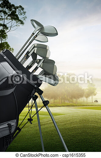golf equipment on the course - csp1615355