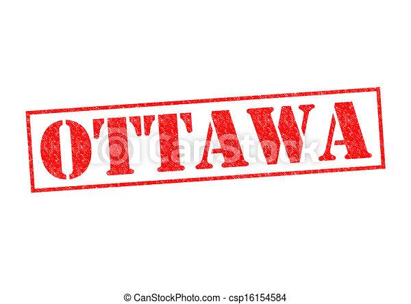 Stock Illustration of OTTAWA Rubber Stamp over a white background ...