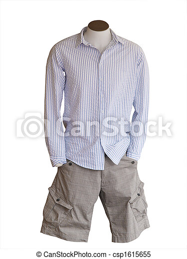 Male Shop Mannequin Wearing Shorts - csp1615655