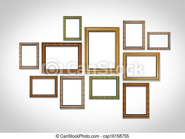 illustrations de cadres image mur image cadres sur mur csp16158755 recherchez des. Black Bedroom Furniture Sets. Home Design Ideas