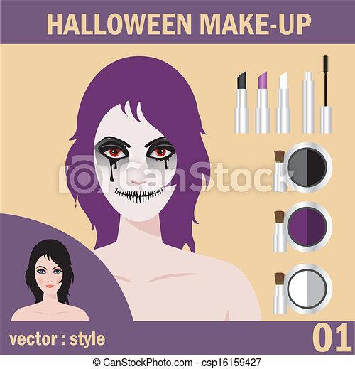Halloween face art - csp16159427