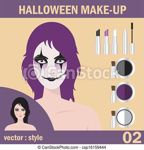 Halloween face art - csp16159444