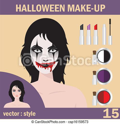 Halloween mask skull face art - csp16159573