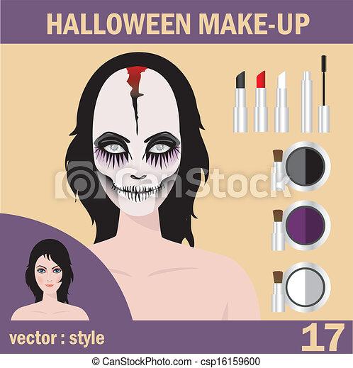 Halloween mask skull face art - csp16159600
