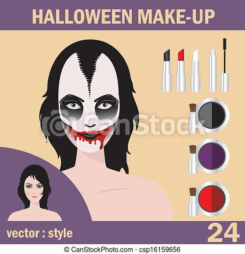 Halloween mask skull face art - csp16159656