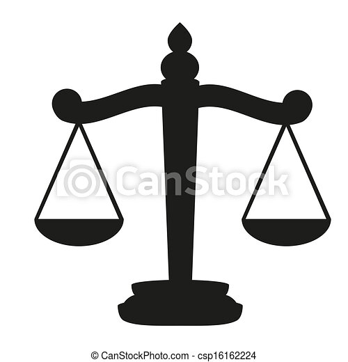 Vector Illustration of Scales of Justice - Scales of Justice ...
