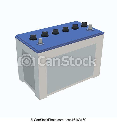 Car Battery Vector Car Battery Vector Blue Car