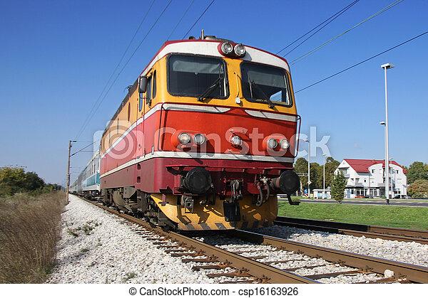 Red train - csp16163926
