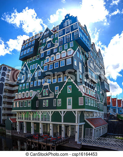 Architecture in Zaandam, Netherlands - csp16164453