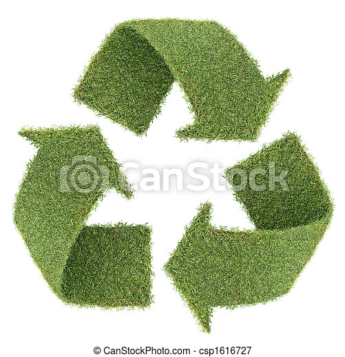grass recycle symbol - csp1616727