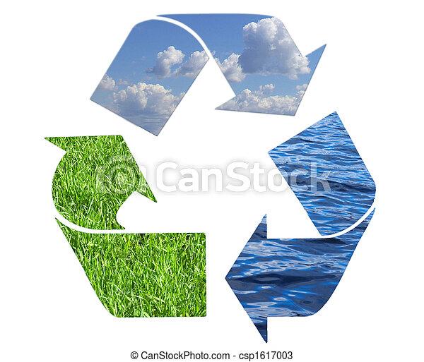 símbolo, reciclaje - csp1617003