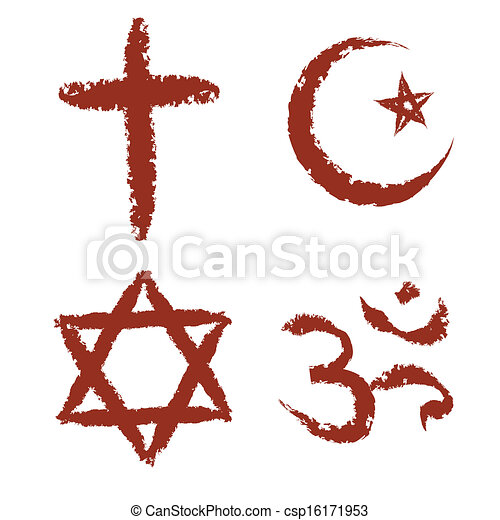 painted religion signs - csp16171953