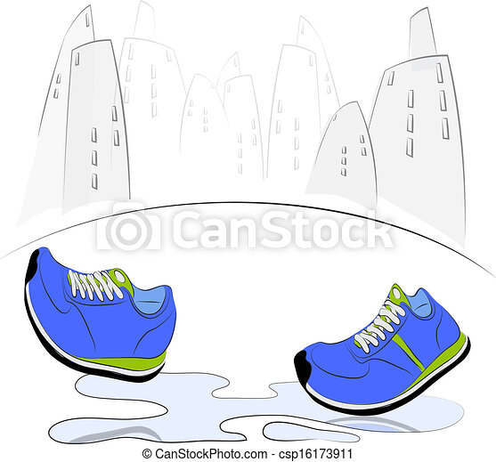 Walking Shoe Clip Art