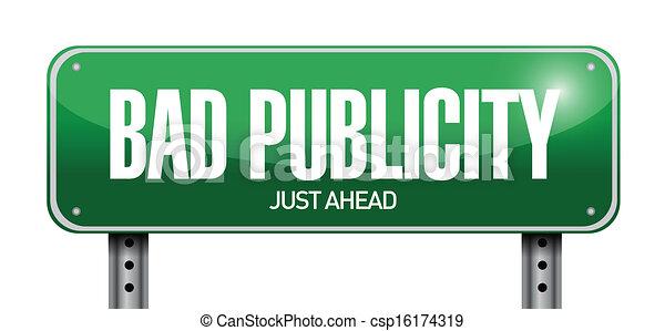 Bad Road Signs Bad Publicity Road Sign