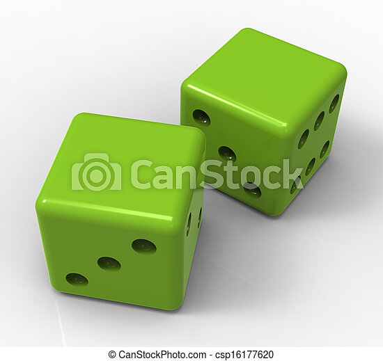 Blank Green Dice Shows Copyspace Gambling And Luck - csp16177620
