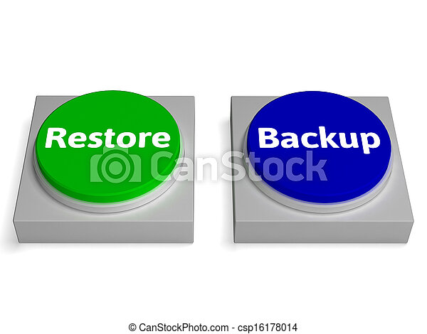 Backup And Restore Buttons Show Data Archiving - csp16178014