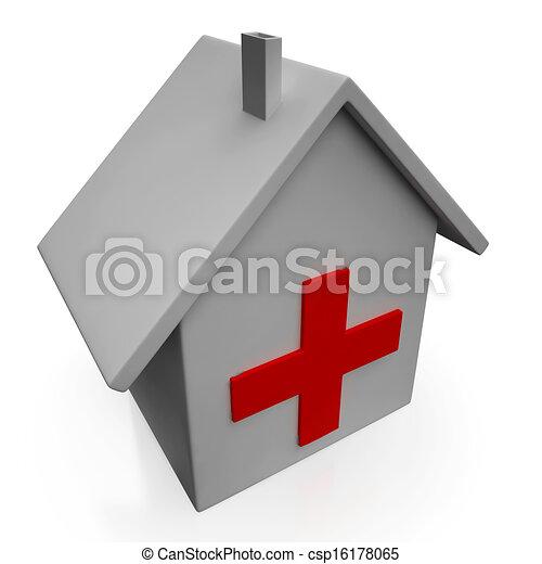Stock Illustration of Hospital Icon Showing Emergency ...