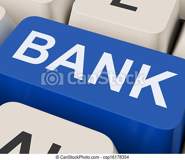 Bank Key Shows Online Or Internet Banking - csp16178354