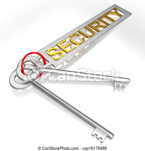 Security Keys Shows Secure Locked And Safe - csp16178488