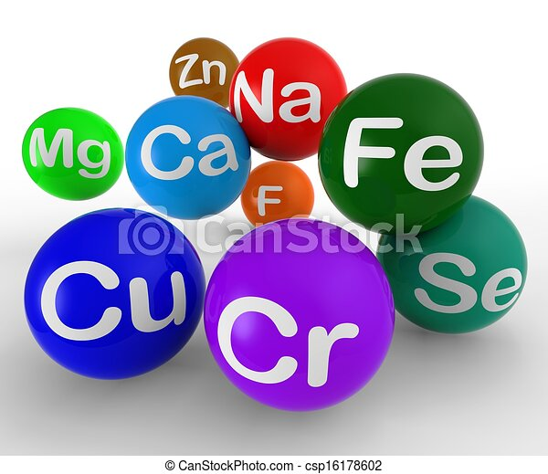 Stock illustration chemical symbols showing chemistry and science