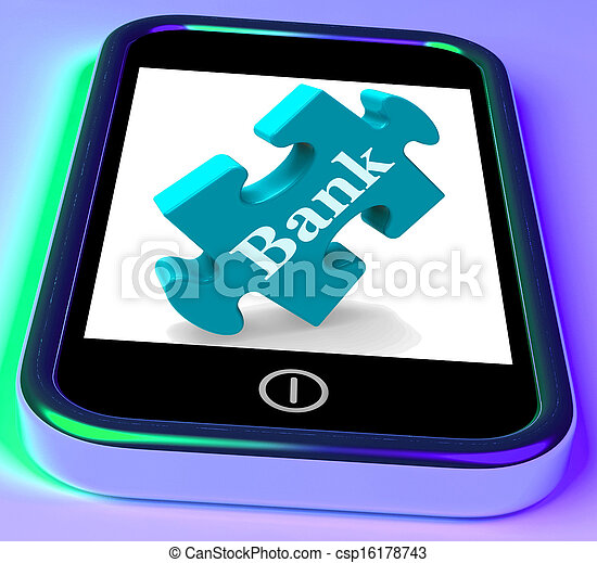 Bank Phone Shows Online Or Electronic Banking Transactions - csp16178743