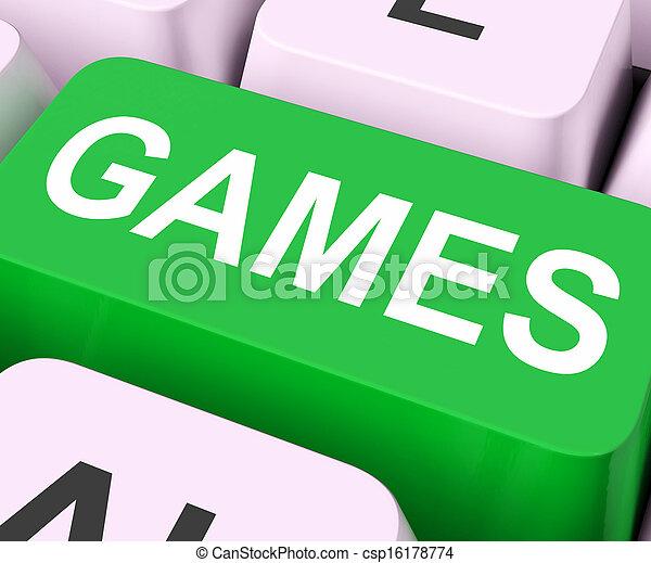 Games Key Shows Online Gaming Or Gambling - csp16178774