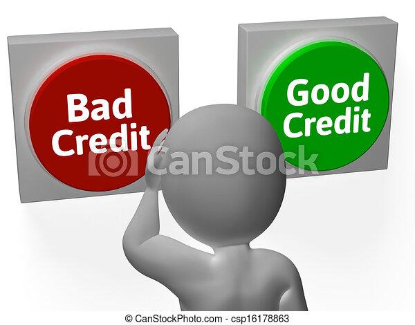 stock illustration von guten darlehen kredit schlechte schuld oder shows csp16178863. Black Bedroom Furniture Sets. Home Design Ideas