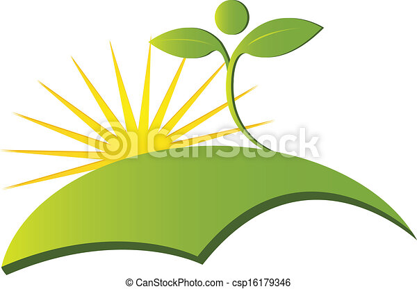 Health nature logo vector - csp16179346