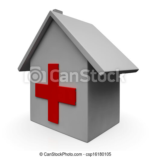 Hospital Icon Shows Emergency Medical Clinic - csp16180105