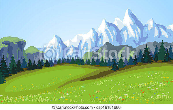 Mountain landscape.  - csp16181686