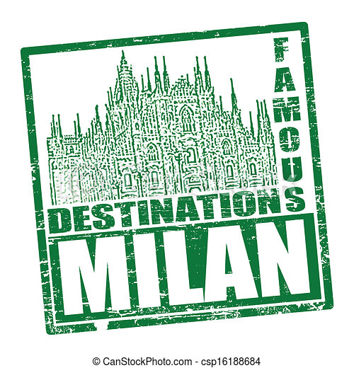 Vector of Milan stamp - Grunge rubber stamp with the text ...