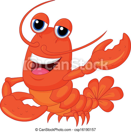 Cute Lobster Cartoon P...