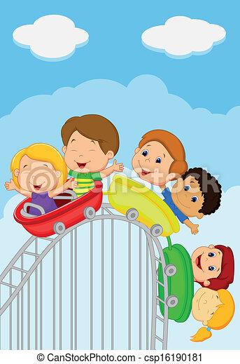 Similiar Teenagers On Roller Coaster Clip Art Keywords