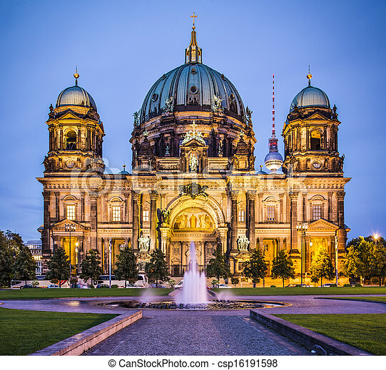 Berlin Cathedral in Berlin, Germany. The church's formation dates back to 1451. - csp16191598