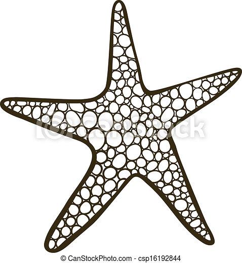 vecteur eps de etoile mer griffonnage  dessin   outline Cartoon Starfish Outline Starfish Clip Art Black and White