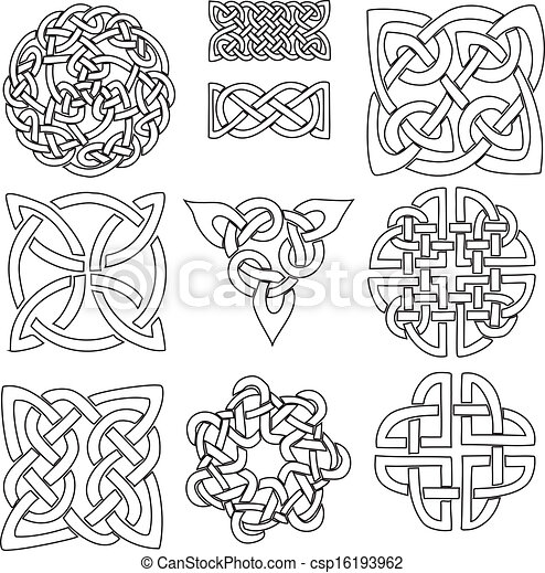 Pagan Symbols Drawings Celtic Symbols Csp16193962