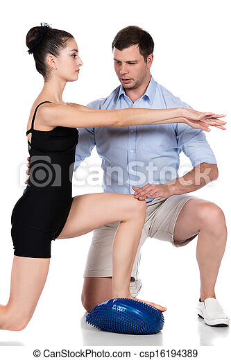 Physiotherapist treating patient - csp16194389