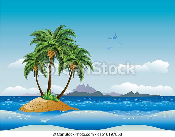Tropical Island Tropical Island in The Ocean