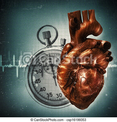 Your time is up! Grungy health and medical backgrounds - csp16199353