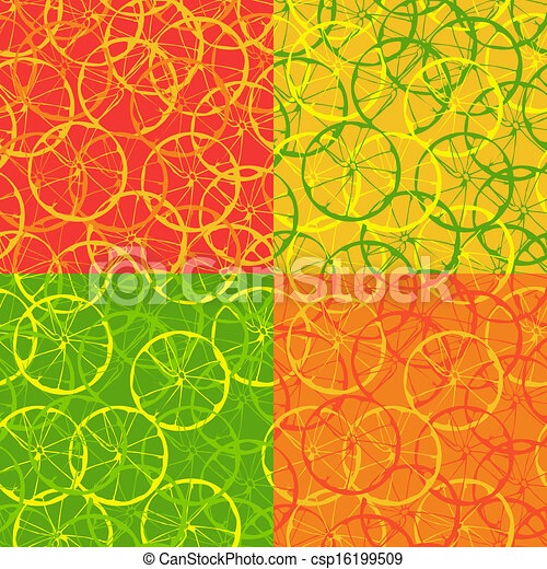 Seamless pattern of citrus fruit - csp16199509