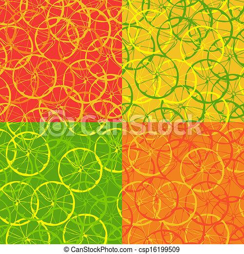 Seamless pattern of citrus fruit - csp16199509