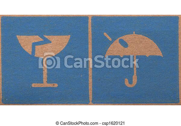 Fragile corrugated cardboard - csp1620121