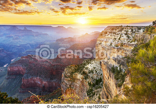 Clip Art of Grand Canyon - Hopi Point, Grand Canyon ...