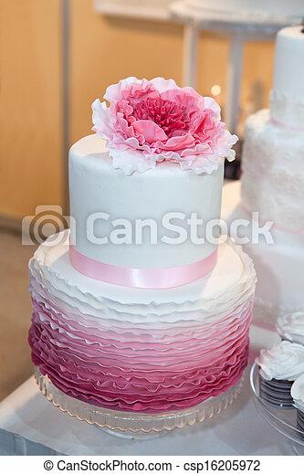 stock foto sch ne wedding kuchen rosa blume oberseite stock bilder bilder. Black Bedroom Furniture Sets. Home Design Ideas